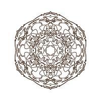 Mandala. Vintage dekorativt element.