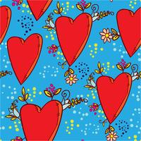 Herz nahtlose Muster vektor