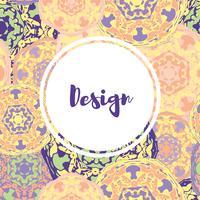 Mall visitkort med orientaliskt islamiskt mandala mönster. vektor