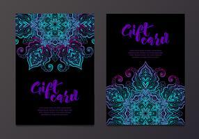 Rika presentkort i indisk stil.