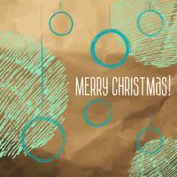 Von Hand gezeichnete Artskizze der Weihnachtskugeln