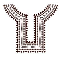 Geometriska, tribal smycken krage kläder. Halslinjekonstruktioner
