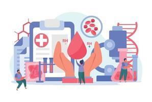 Zusammensetzung des Blutspenders vektor