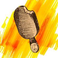 Nachtischartskizze der Gekritzeleiscreme gefrorene vektor