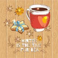 Dags för te vektor