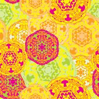Gypsy sömlös mönster av abstrakta mångfärgade runda mandalaer. vektor