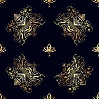 Sömlösa mönster av ryska motiv av nordlig målning