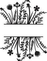 Blumenrahmen oder Bordüre vektor