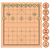 Kinesisk schack, Xiangqi. vektor