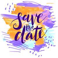 Spara datumet, bröllopsinbjudningar.
