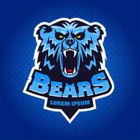 björnhuvud mascot emblem vektor