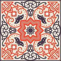 Talavera-Fliese Lebhaftes mexikanisches nahtloses Muster,
