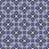 Traditionelle portugiesische Azulejos der blauen Verzierung. Orientalisches nahtloses Muster vektor