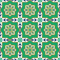 Spanska klassiska keramiska plattor. Sömlösa mönster.