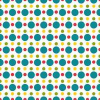 Färgad polka dot sömlös mönster vektor