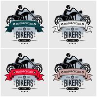 Chopper biker club logo design. vektor