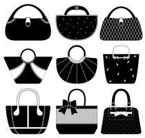 Handtasche Handtasche Set. vektor