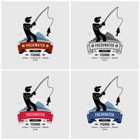 Fiske logotyp design. vektor