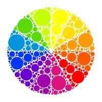 Färghjul eller färgcirkel vektor