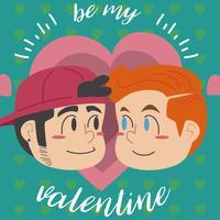 Sei mein Valentinsschatz vektor