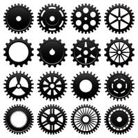 Kugghjulsvektor för maskindrevet hjul.