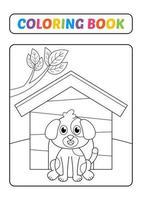 Malbuch, Hundevektor vektor