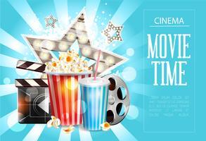 Kino-Plakatgestaltung. Vektor Vorlage Banner.