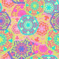 Zigeuner nahtlose Muster von abstrakten bunten Mandalas.