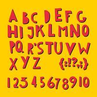 ABC lateinische Buchstaben und Zahlen.
