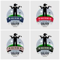 Golfer logotyp design.