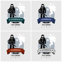 Exterminator logo design.