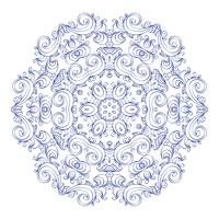 Rund prydnad vintage blommig esoterisk mandala. vektor