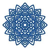 Mandala-Laserschneiden für Papierservietten. vektor