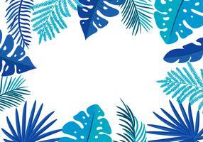 Tropische Blattpalme des Sommer-Vektorblumenfeldes mit Platz für Text vektor
