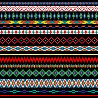 Native American bead border patterns