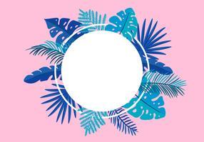 Sommar vektor blommig ram tropisk löv palm med plats för text