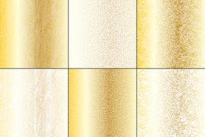 Metallguld och vit naturliga texturer vektor