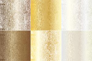 Metallische Woodgrain-Texturen