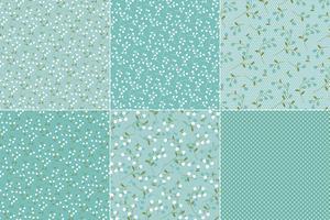 Blågröna Floraler & Polka Dots