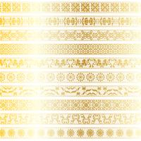 Goldspitze-Randmuster