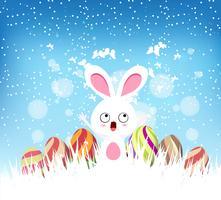 påskfloraler med kanin vektor
