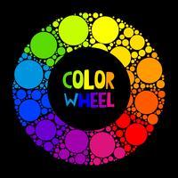Farbrad oder Farbkreis auf schwarzem Hintergrund vektor