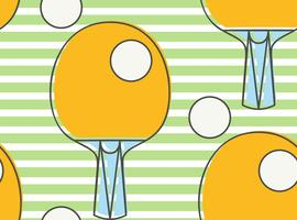 Nahtloses Muster Ping-Pong-Schläger. Liga Tischtennis. vektor