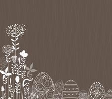 Ostereier Ornament Hintergrund vektor