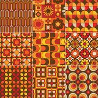 mod sömlösa gula apelsinbruna mönster