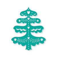 Weihnachtsbaum. Laserschneideschablone vektor