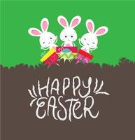 Frohe Ostern Karte mit Ei und Geschenken