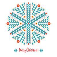 Abstraktes Design mit Schneeflocken
