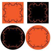 orange und schwarze Halloween-Frames