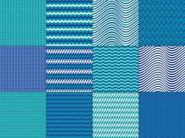 Türkis-Blau-Wellenmuster vektor